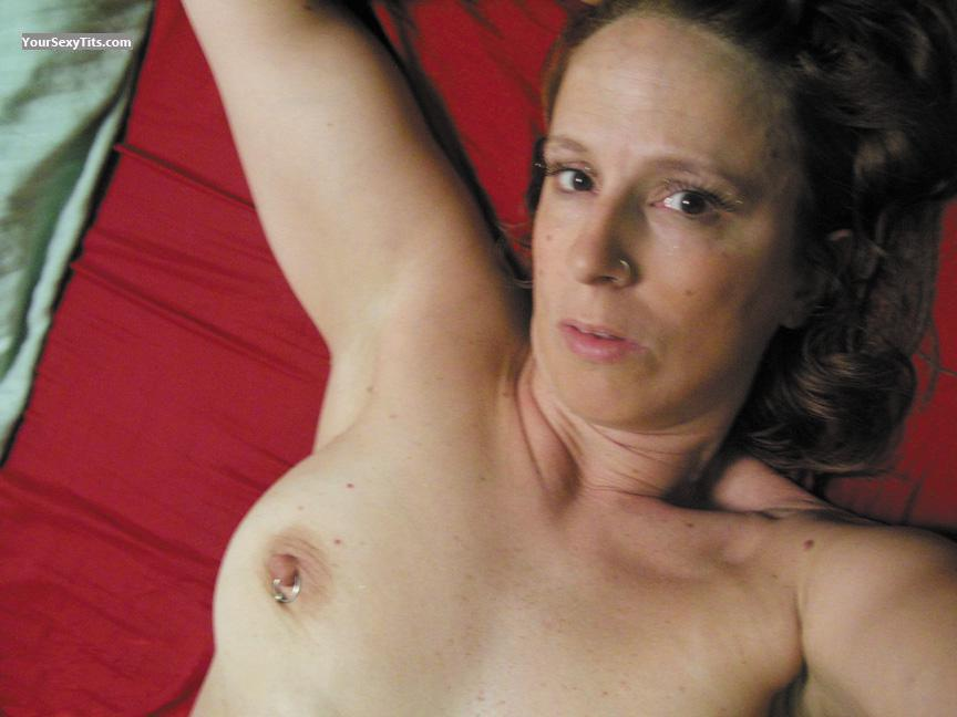 Tit Flash: My Medium Tits (Selfie) - Topless RERE from United StatesPierced Nipples